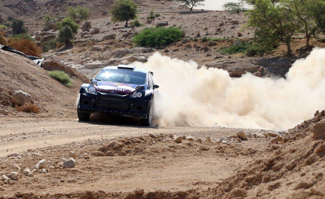 Qatar's Nasser Saleh Al-Attiyah in action at the Jordan Rally.