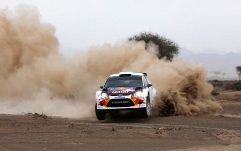 Nasser Al-Attiyah in Dubai action last season.
