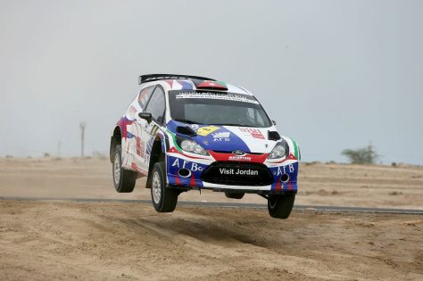 Jordan's Ala'a Rasheed in Kuwait Rally action.