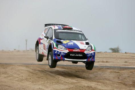 Jordan's Ala'a Rasheed in Kuwait Rally action.