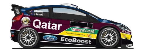 Hayden Paddon's Qatar M-Sport World Rally Team livery2