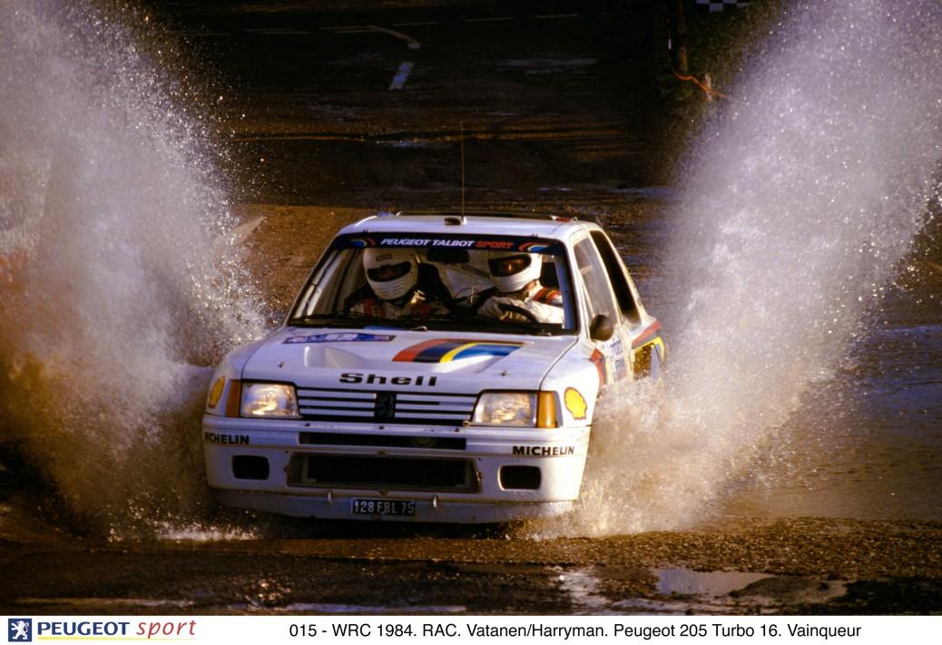 015 - WRC 1984. RAC. Vatanen/Harryman. Peugeot 205 Turbo 16. Vainqueur
