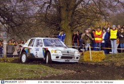 014 - WRC 1984. RAC. Vatanen/Harryman. Peugeot 205 Turbo 16. Vainqueur