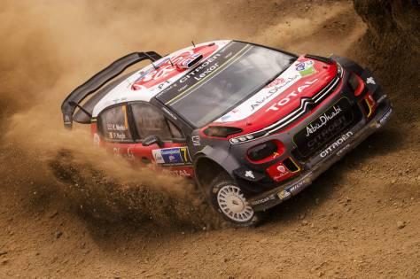 Kris Meeke on his way to winning Rally Mexico last year.
